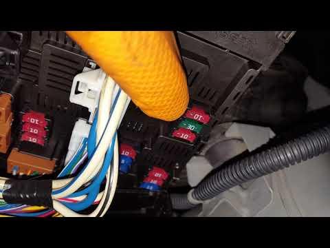 Nissan Sentra AC + fuel pump fuse location - hidden fuses - YouTubeYouTube