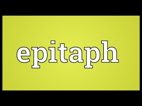 Epitaph Meaning