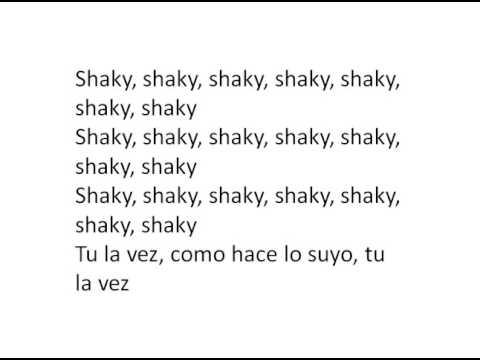 Shaky Shaky Letra