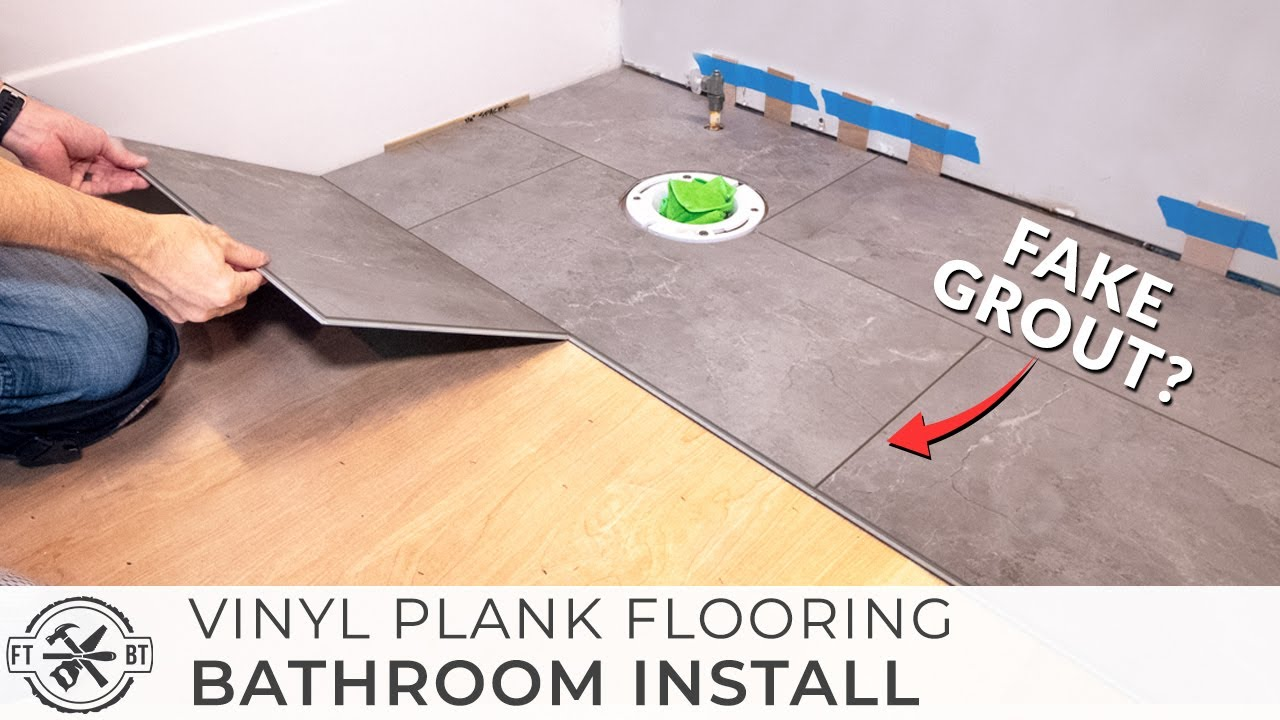 How to Install Vinyl Plank Flooring in a BATHROOM 🚽