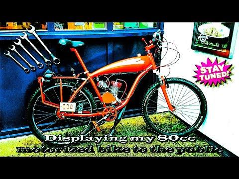 Displaying my 80cc motorized bike to the public