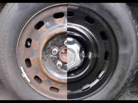 Покраска Штампованных дисков по дешману своими руками (на примере Hyundai Matrix)