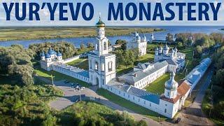 Свято-Юрьев монастырь / Великий Новгород обзор с высоты птичьего полета
