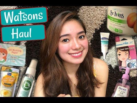 Watsons Haul 2017 Skincare Philippines Youtube