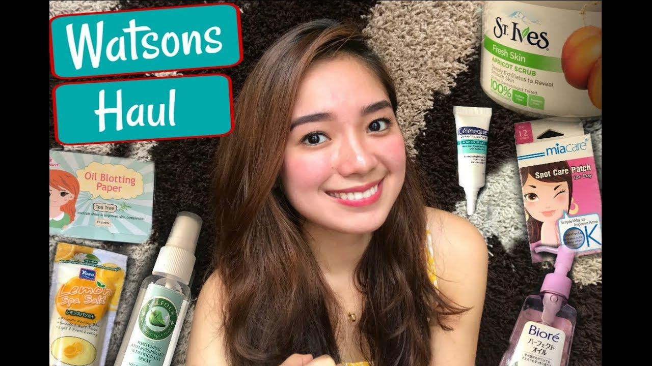 WATSONS HAUL 2017! (Skincare)   Philippines - YouTube