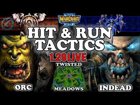 Grubby | Warcraft 3 TFT | 1.29 LIVE | ORC v UD on Twisted Meadows - Hit & Run Tactics