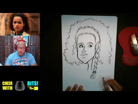 How To Draw Caricature Missandei Game of Thrones