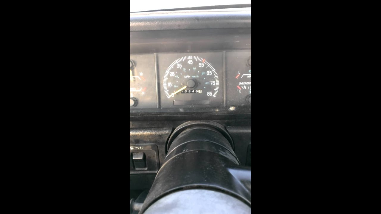 1991 F-150 Speedometer Issue