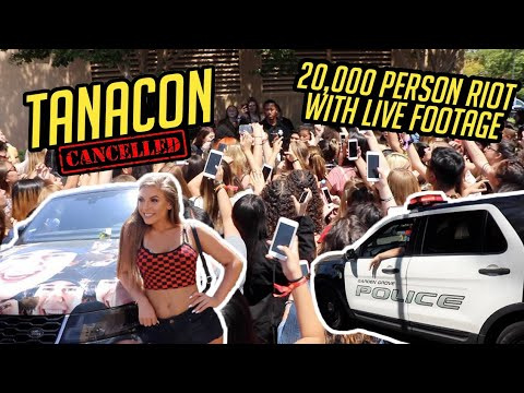 TANACON GOT CANCELLED (20,000+ PERSON RIOT, POLICE, AMBULANCES) *LIVE FOOTAGE*