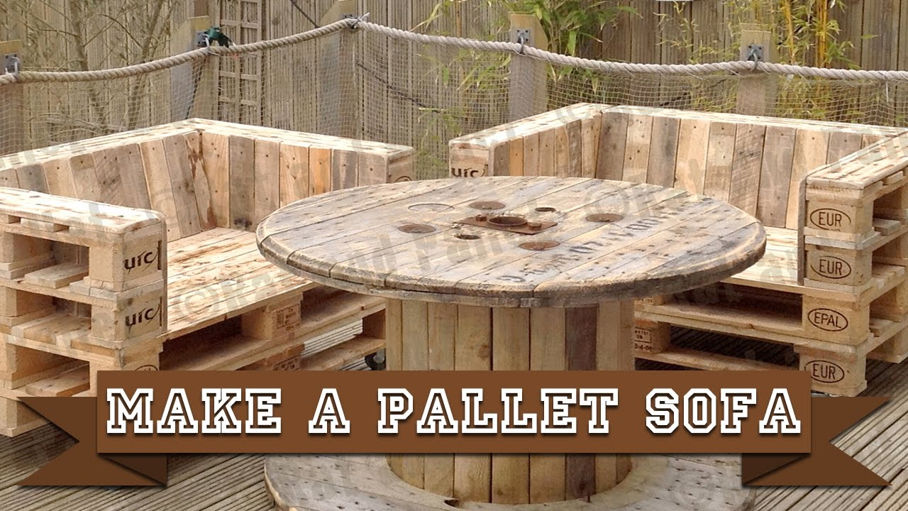 Make a Simple DIY Pallet Sofa Chair from Recycled Wood ...