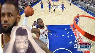 Down to the last shot! cleveland cavaliers vs philadelphia sixers full highlights reaction