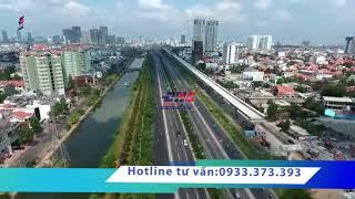 Masteri An Phú và ga metro Thảo Điền nhìn từ flycam