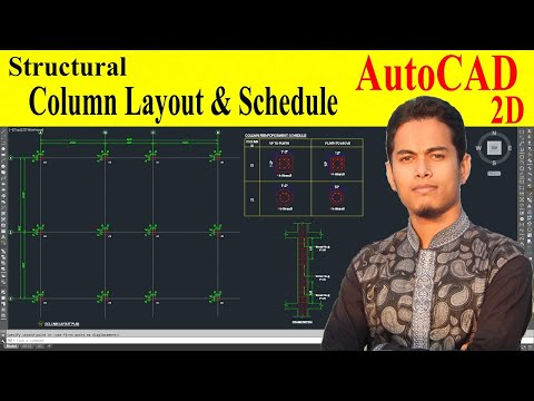 How to draw Column layout in autocad at structural drawing