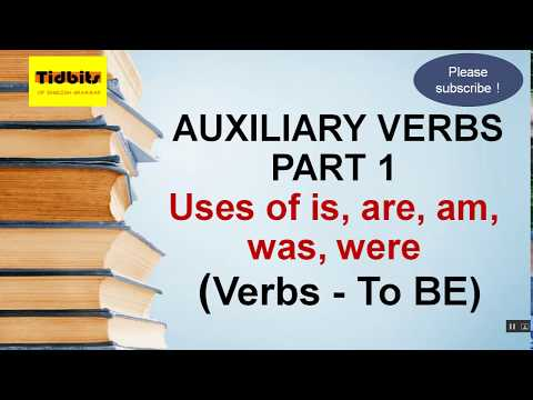 Auxiliary Verbs in English grammar - helping Verbs, use of be- is, am, are, was and were