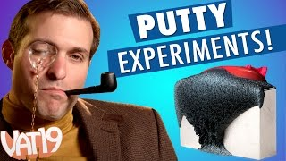 "What happens when you take a blow torch to heat changing thinking putty? The ""scientists"" at Vat19 answer this question about Crazy Aaron's Putty and tons ..."