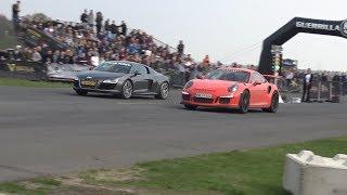 Drag Race - Porsche 911 GT3 RS vs Aventador S vs Audi R8