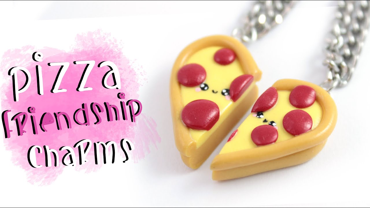 DIY Pizza Friendship Necklace/charms!