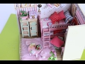 DIY pink miniature  dollhouse girls double bed cute bedroom//start to finish  Part 2   Tia Tia
