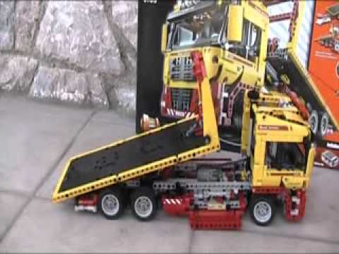 lego technic 8109 flatbed truck and b model youtube. Black Bedroom Furniture Sets. Home Design Ideas