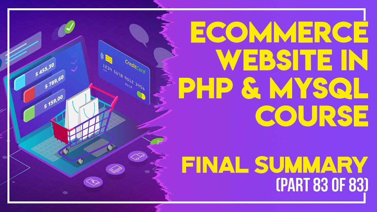 E-Commerce website in PHP & MySQL in Urdu/Hindi part 83 final summary