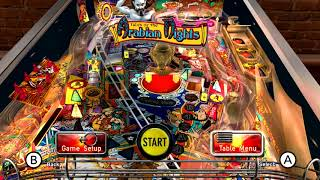 The Pinball Arcade (Switch eShop)- Gameplay Footage (Tales of the Arabian Nights)