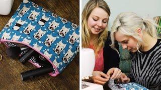 Nähen für Dummies feat DIY Eule #2 Kosmetiktäschchen   DIY    nähen lernen