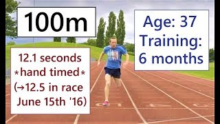 Sprinting: 30m / 50m / 100m - Close To 12 Seconds For 100 Metres