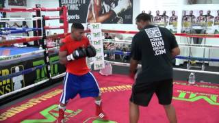 Yuriorkis Gamboa Training Inside Mayweather Boxing Club