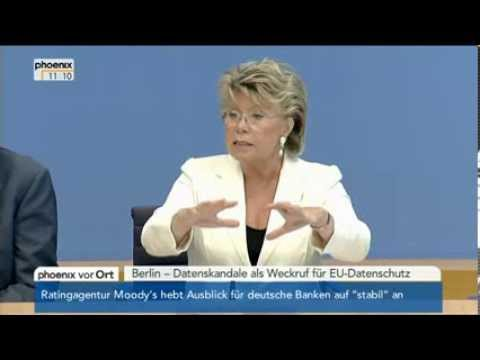 NSA-Skandal: EU-Justizkommissarin Viviane Reding am 06.09.2013
