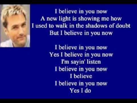 parole chanson i believe in you