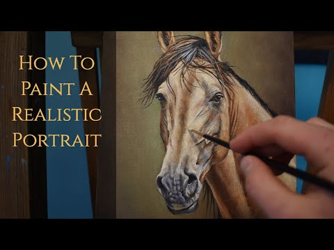 How To Paint A Horse Portrait | Realistic Portrait Painting Techniques in Oils