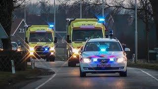 Groot spoedtransport na ernstig ongeval in Vierpolders