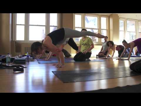 Christina Sell teaches a Yoga Intensive at Maha Yoga in Philadelphia, Pennsylvania