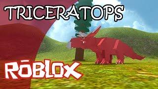 DINOSAUR SIMULATOR (Roblox) | TRICERATOPS | Gameplay Español