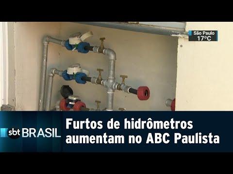 Furto de hidrômetros aumenta 150% em cidade do ABC Paulista | SBT Brasil (21/07/18)