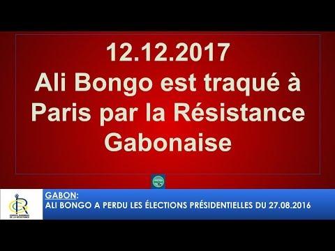 12.12.2017 ALi Bongo traqué par la diaspora gabonaise à Paris - 1 #CGR #Gabon