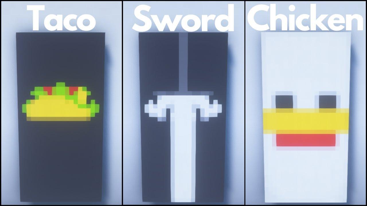 Minecraft 10 Cool Banner Designs Tutorial Youtube