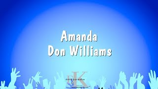 Amanda - Don Williams (Karaoke Version)