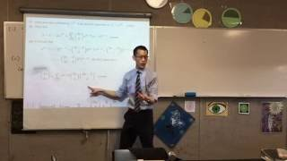 Proving Harder Binomial Identities (2 of 3: Combining previous parts to find a relationship)