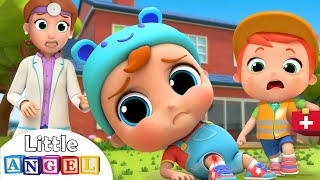 Ouch, I Got A Boo Boo! | Little Angel Safety Kids Songs with Nursery Rhymes