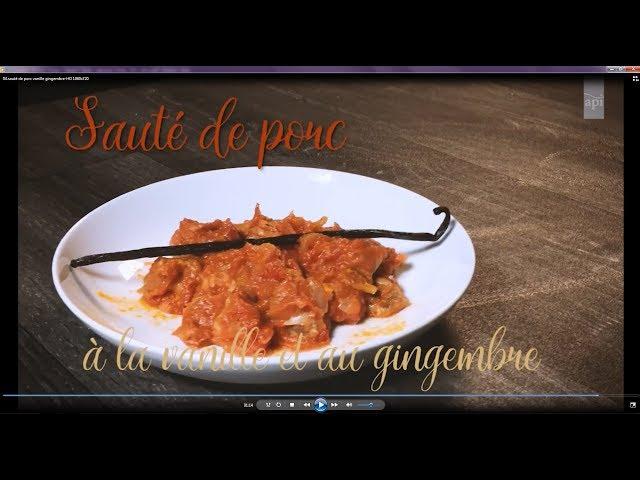04- Sauté de porc vanille et gingembre