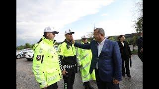 Emniyet Genel Müdürü Celal Uzunkaya, trafik tedbirlerini havadan denetledi