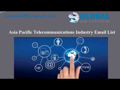 Asia Pacific Telecommunications Industry Email List