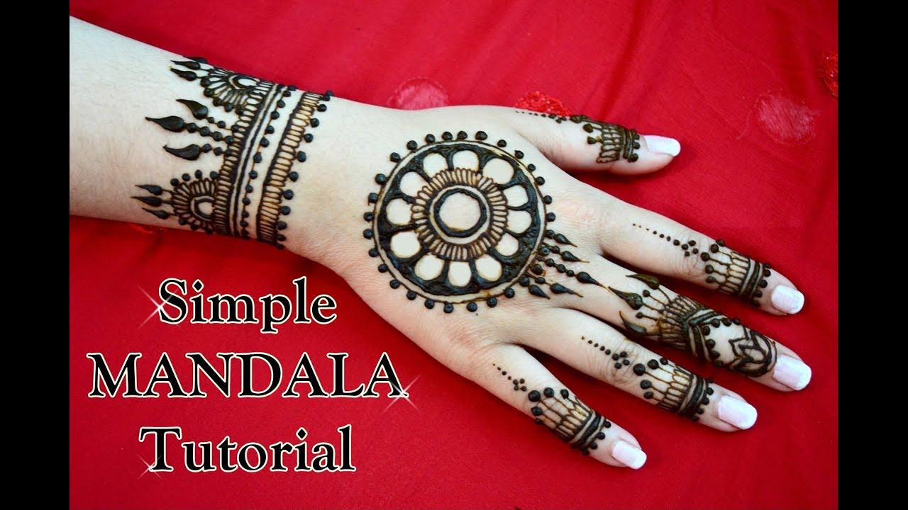 Simple Mehndi Mandala : How to simple mandala tutorial henna mehndi design
