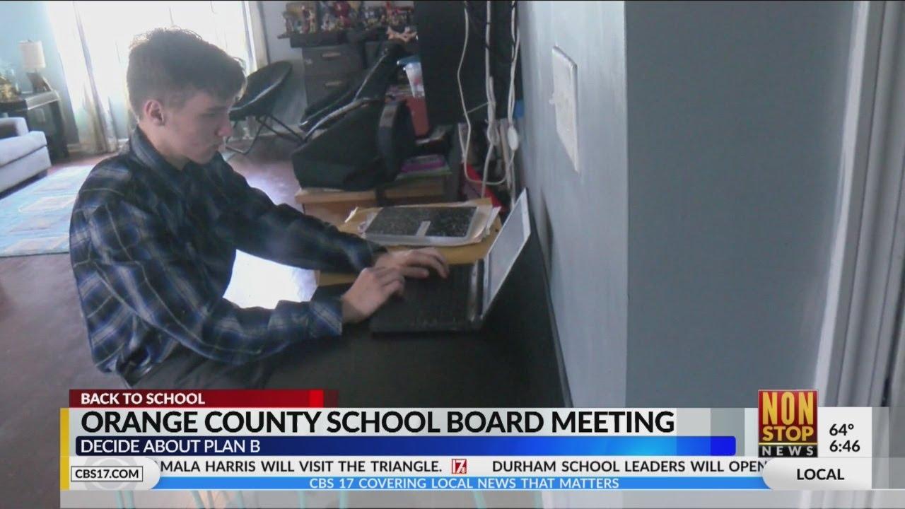 Orange County School Board to discuss Plan B learning