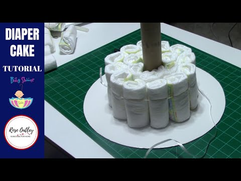 How to make a Diaper Cake | Diaper Cake Tutorial | Baby Shower Ideas