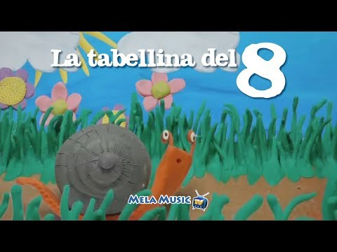 CANTIAMO LA TABELLINA DELL'8 - Canzone della chiocciolina Marilù