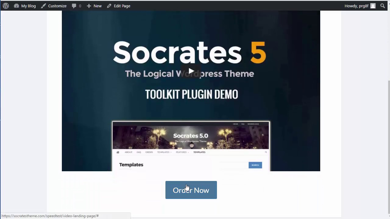 Socrates Theme Landing Page Template YouTube - Video landing page templates