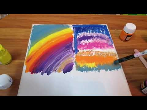 easy-acrylic-painting-for-beginners-on-canvas|-painting-ideas-for-kids-|-abstract-art