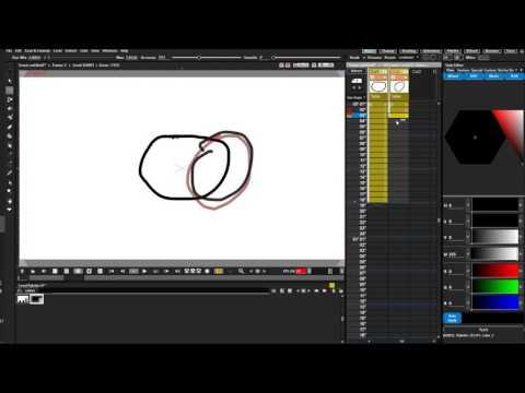 OpenToonz 5 создание кадров, прозрачность, Onion Skin, Xsheet, анимация